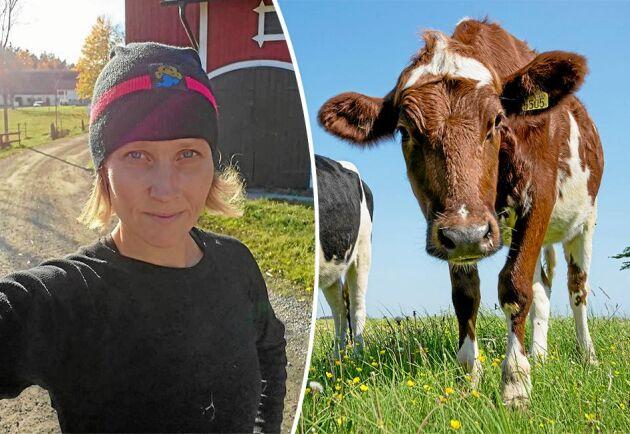 """""""Vi kan inte tillgodose Sveriges jordars näringsbehov och välmående med enbart vegankost"""", skriver mjölkbonden Anette Gustawson."""