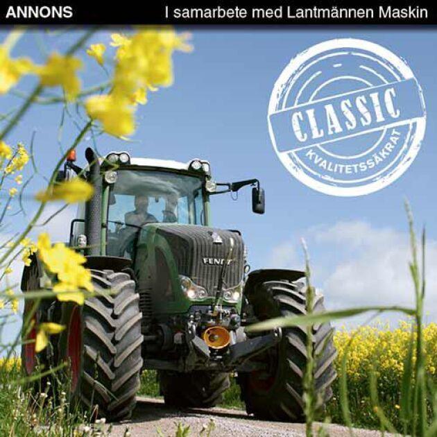 Lantmännen Maskin Classic är ett koncept som erbjuder fullservice av äldre traktorer. Det innebär en komplett genomgång av alla servicepunkter, men till lägre arbetskostnad än på nyare traktorer.