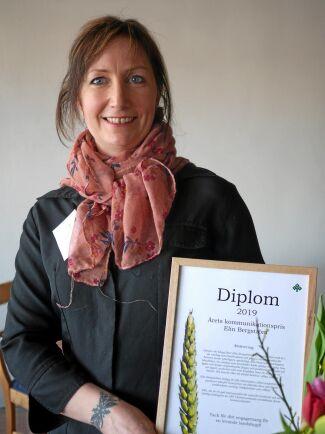 Årets kommunikationspris gick till Elin Bergström, Nysäter lantbruk. Genom sin blogg på ATL låter läsarna följa med i vardagen som lantbrukare och genom sociala media får hennes texter ytterligare spridning.