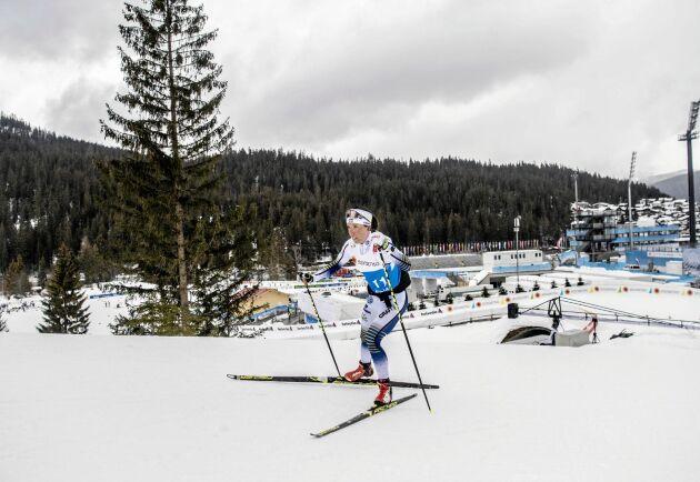 Charlotte Kalla i skid-VM 2019 i Seefeld.