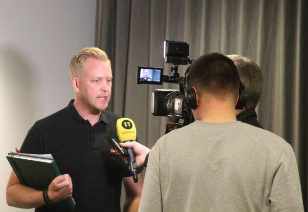 MSB:s insatschef, Jakob Wernerman, under en presskonferens i Stockholm nyligen.
