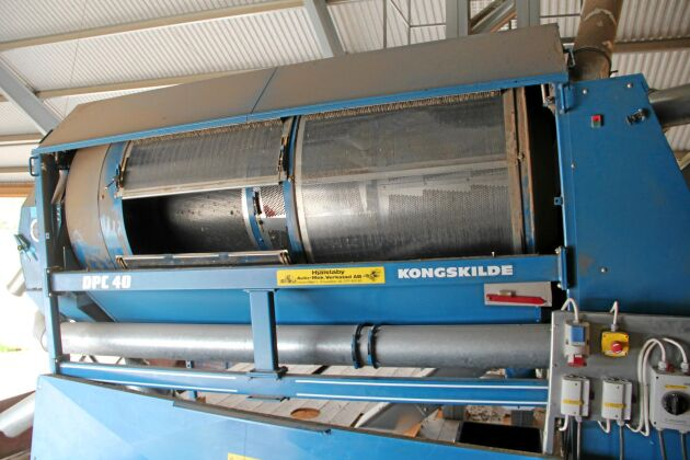 Kongskilde spannmålsrensverk DPC 40 har två såll samt en luftrens.