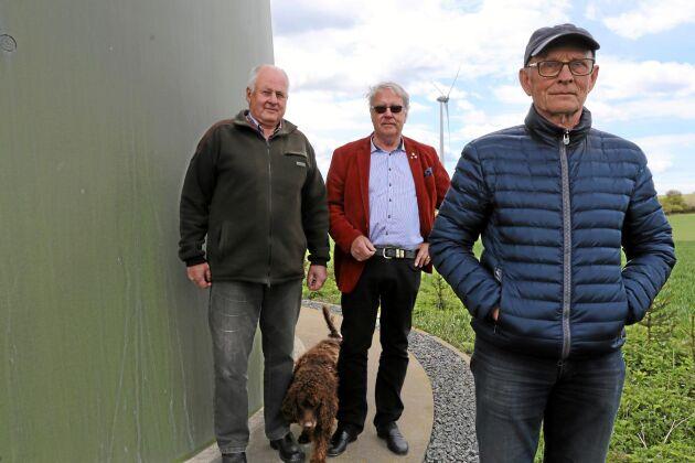 Förlorare. Per-Åke Persson, Christer Laurell och Bo Gunnarsson har tillsammans satsat 75 miljoner kronor på vindkraft, en satsning som går med förlust.