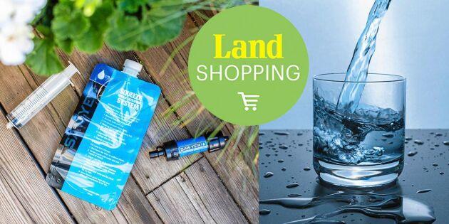 Smarta reningsprodukter gör smutsigt vatten drickbart