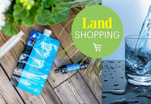 Smarta produkter för att rena vatten – bra att ta med på resan eller vandringen.