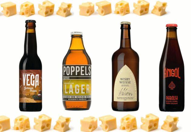 Kombinera ost och öl! Här får du tips på sorterna som passar ihop.