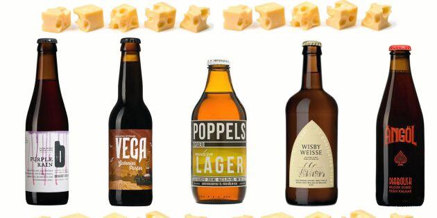 Fem goda kombinationer svensk ost och öl