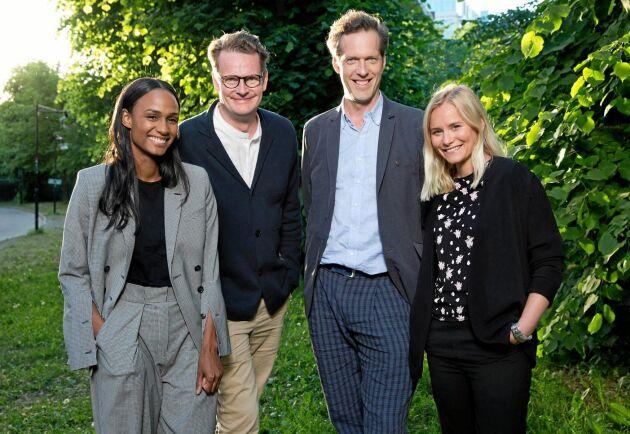 """Nanna Blondell, Ebba Hultkvist Stragne och Niklas Engdahl är skådespelare i """"Den inre cirkeln"""", skriven av en av Sveriges mest erfarna politiska strateger, Per Schlingmann."""
