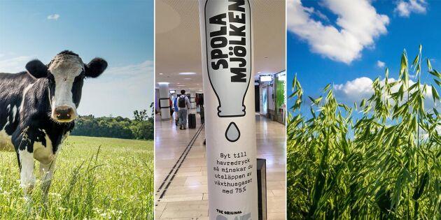 Oatlys nya kampanj: Spola mjölken