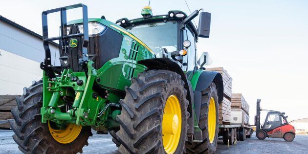 Fortsatt ökning för traktor B