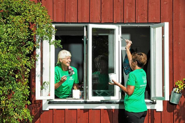 Målning är ett av många jobb som du kan få hjälp med genom att hyra en pensionär.