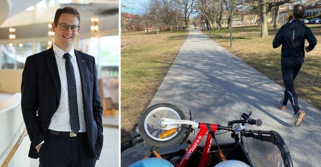 För familjen Möller har lådcykeln förändrat deras vanor. Pappa springer familjen hänger med på cykeln.