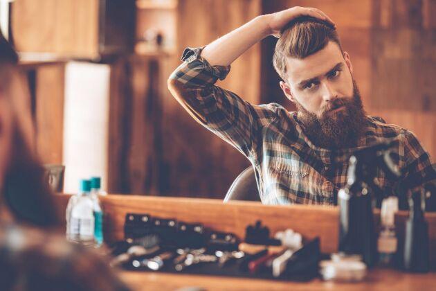 Skäggolja har kommit mer. Många vill ha skägg och är noga med att se välvårdade ut.