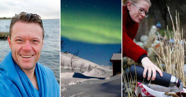 – Det gäller bara att se möjligheter och ljus snarare än mörkerm tipsar författare Niklas Kämpargård som precis upptäckt tjusningen med vinterbad.