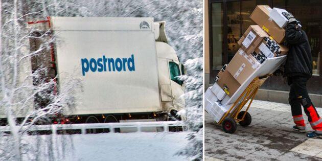 Kaos i rekordhandeln – paket lämnas under bar himmel