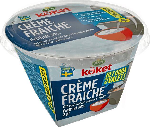 Stora Enso har arbetat tillsammans med Schur och Arta plast och ersatt Arlas creme fraicheburk som tidigare var tillverkad av plast.