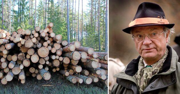 Är det Kungens uppgift att ställa sig på skogsbolagens sida i en bojkott mot 300 000 små skogsägare, undrar debattören.