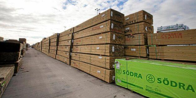 Skogsindustrin bunkrar för Brexit