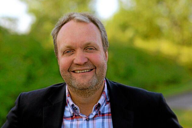 """""""...priskurvan för vete är inte speciellt munter"""". Mikael Jeppsson, chef för spannmålsenheten på Lantmännen Lantbruk."""