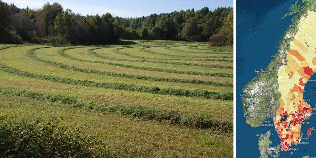 Här finns billig åkermark