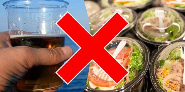 Regeringen vill förbjuda fler plastprodukter