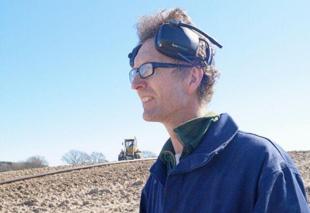 Per Johan Påhlstorp ser fram emot gödselutläggning utan vägtransporter.