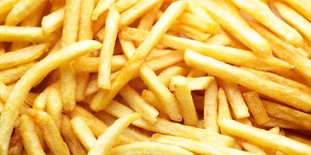 Kortare pommes frites på grund av torkan