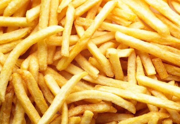 Konsumenterna får i år räkna med en lite större variation i längden på pommes frites. Foto: Istock