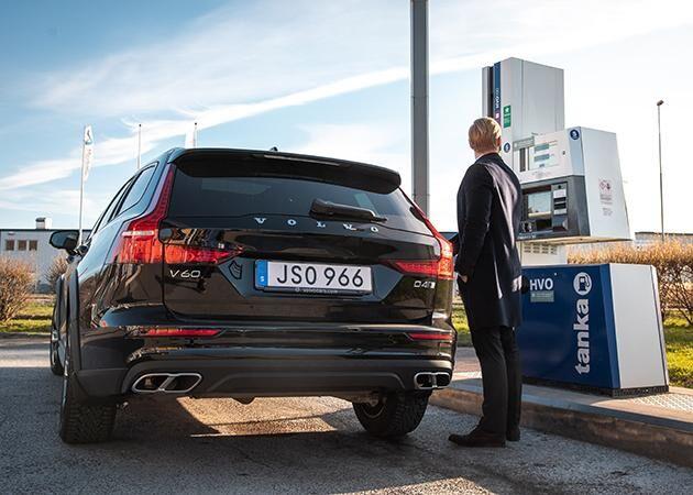 Fritt fram att tanka HVO100 i dagens Volvobilar utan någon tillpassning.