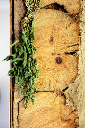 Sågytan visar hur friska de gamla, grova timmerstockarna i torpet är.