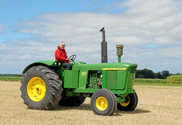 John Deere 5020 var en biffig traktor 1968. Effekten vara nära 150 hästkrafter. Ett fint exemplar visades på Borgeby Fältdagar.