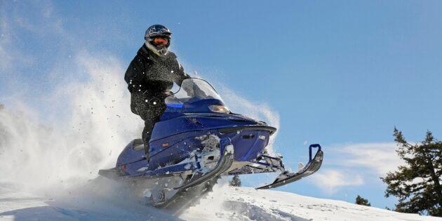 Så mycket kostar det att trafiksynda –på snöskoter