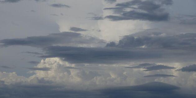 Äntligen –ostadigt väder på gång