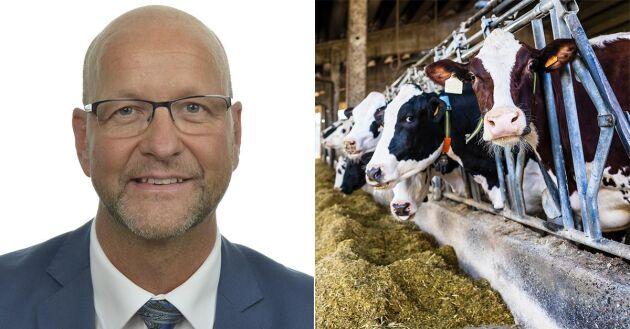– Vi måste stoppa den här utvecklingen och skapa en framtidstro för mjölkbranschen, säger Magnus Oscarsson (KD).