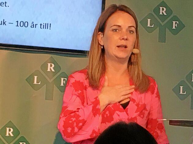 Jennie Nilsson på LRFs skogsseminarium Almedalen.
