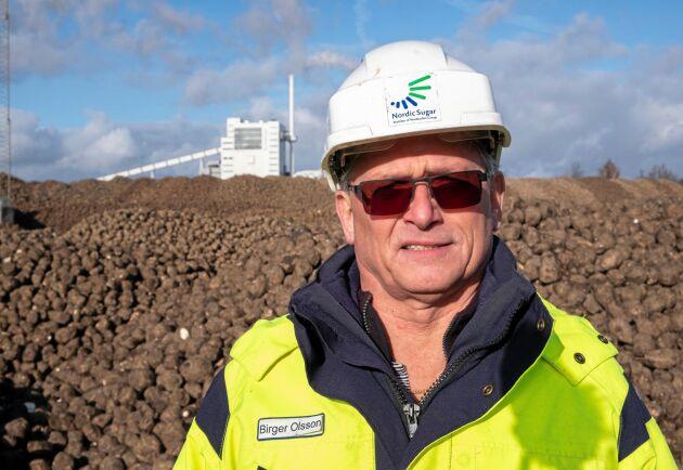 Birger Olsson, betförsörjningschef på Nordic Sugar.