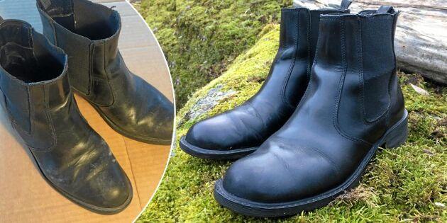 Laga en sliten lädersko – steg för steg