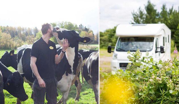 Sommarsäsongen 2021 innebär premiär för gårdens tio ställplatser som bokas och betalas genom Acamp.