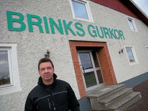 Anders Larsson är VD för familjeföretaget Brinks gurkor och lantbruk AB utanför Norrköping.