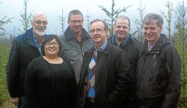 Övre raden från vänster: Lars Heineman, Enånger, Per-Erik Wallin, Bergsjö, Mats Hägglund, Njutånger och Magnus Areskoug, Hudiksvall. Nedre raden från vänster: Anna Sjödin, Bergsjö och Lars Fältholm, Forsa. Staffan Larsson, Jättendal saknas på bilden.