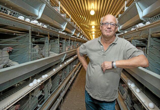 Michael Liedberg har 80000 höns på sin gård.