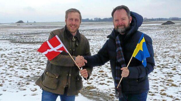 Claus Hermansen, direktör Agromek och Andreas Mårtensson, mässansvarig Borgeby Fältdagar är nöjda med det nya gemensamma arrangemanget.