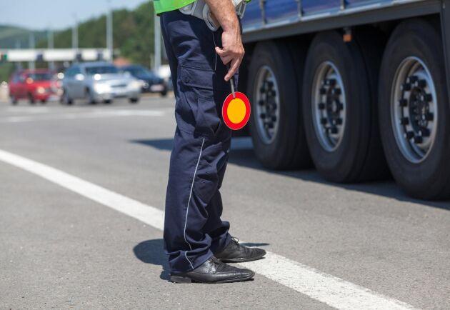 I förra veckan hade polisen i Värmland en kontroll på lastbilar vid en trafikkontrollplats. Sammanlagt fanns bara fyra poliser på plats, vilket är hela Värmlands styrka för tunga fordon. Arkivbild.