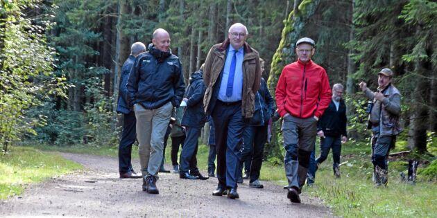Hogan besökte halländska skogen