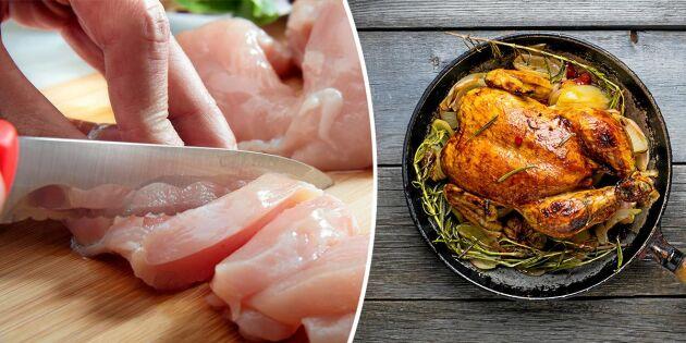 Skrämmande skillnader mellan svensk och importerad kyckling