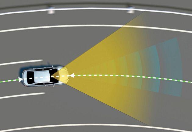Cross Traffic Alert varnar föraren för korsande trafik.
