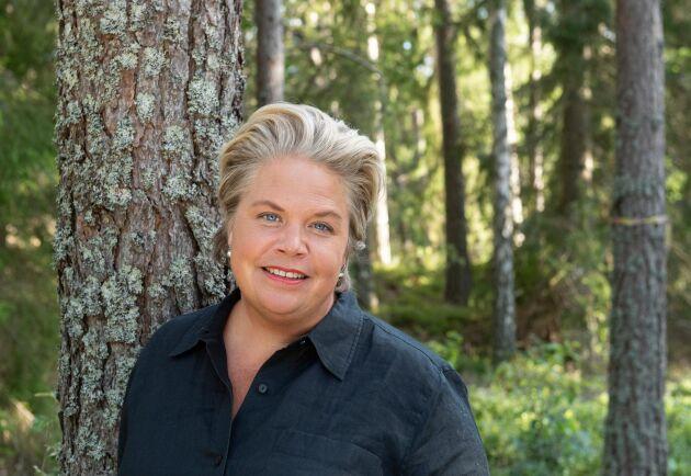 """Lotta Lyrå är ny koncernchef för Södra: """"Södra ska stärka den enskilda skogsgårdens lönsamhet och allt vi gör ska bidra till det"""", säger hon."""