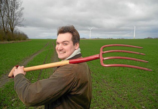 Sebastian Remvig, 24, utbildar sig till agronom.