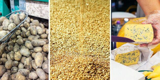 Norges import av jordbruksvaror ökade stort