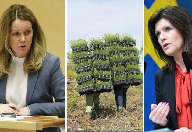 Jennie Nilsson, landsbygdsminister och Eva Nordmark, arbetsmarknadsminister, båda (S).